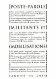 Baptiste Giraud et Julian Mischi - Agone N° 56, 2015 : Porte-parole, militants et mobilisations.
