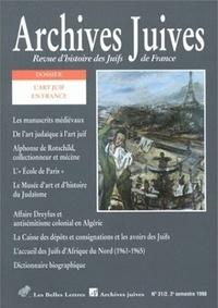 Belles Lettres - Archives juives N° 31/2 : L'Art juif en France.