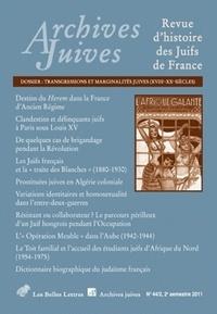 Belles Lettres - Archives juives N° 44-2 : Trangressions et marginalités juives, XVIIIe-XXe siècles.