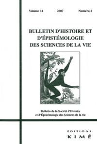 Marion Thomas - Bulletin d'histoire et d'épistémologie des sciences de la vie Volume 14 N° 2 : .