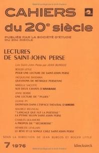 Jean Burgos et Roger Little - Cahiers du 20e siècle N° 7/1976 : Lectures de Saint-John Perse.
