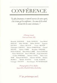 Christophe Carraud et Pierre-Emmanuel Dauzat - Conférence N° 40, printemps 201 : L'Europe inouïe.