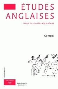 Frédéric Regard - Etudes anglaises N° 61/3, Juillet-sep : Genre(s).