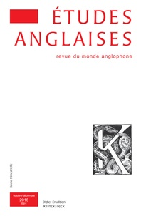 Klincksieck - Etudes anglaises N° 69/4, 2016 : .