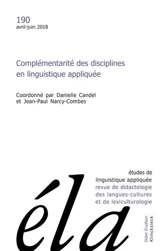 Klincksieck - Etudes de Linguistique Appliquée N° 190, Avril-juin 2 : .