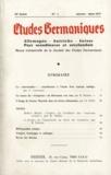 Claude David - Etudes Germaniques N° 125, janvier-mars : .