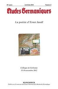 Jean-Marie Valentin - Etudes Germaniques N° 274, 2/2014 : La poésie d'Ernst Jandl.