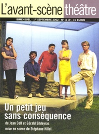 Jean Dell - L'Avant-scène théâtre N° 1119, Septembre 2 : Un petit jeu sans conséquence.