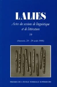 Jean Lallot et  Collectif - Lalies N° 19/1999 : .