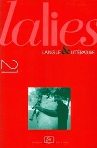 Jean Lallot - Lalies N° 21/2001 : Le parler grec de Calabre.