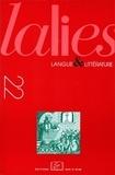 John Lyons et Jean Baumgarten - Lalies N° 22/2002 : .