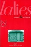 Denis Creissels et Jean Bouffartigue - Lalies N° 23/2003 : .