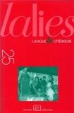 Nicolas Tournadre et Larry F. Norman - Lalies N° 25/2005 : .