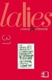 Glenn W. Most et Bertrand Lafont - Lalies N° 31/2011 : .