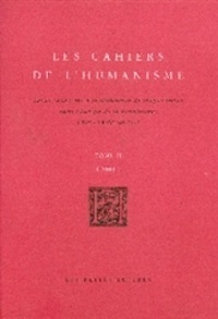 Belles Lettres - Les cahiers de l'humanisme Tome 2 : .