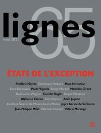 Michel Surya - Lignes N° 65, mai 2021 : Etats de l'exception.
