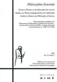 Muriel Guedj - Philosophia Scientiae Volume 11 N° 2/2007 : .