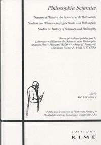 Simone Mazauric et Louis Rougier - Philosophia Scientiae Volume 14 N° 2/2010 : .