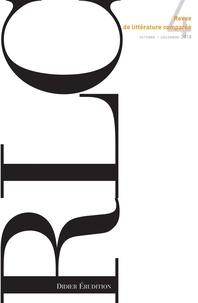 Klincksieck - Revue de littérature comparée N° 4/2018, octobre-d : .