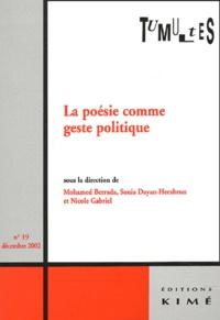 Barbara Berrada et Sonia Dayan-Herzbrun - Tumultes N° 19, Décembre 2002 : La poésie comme geste politique.