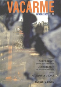 Collectif - Vacarme N° 22 Hiver 2003 : .