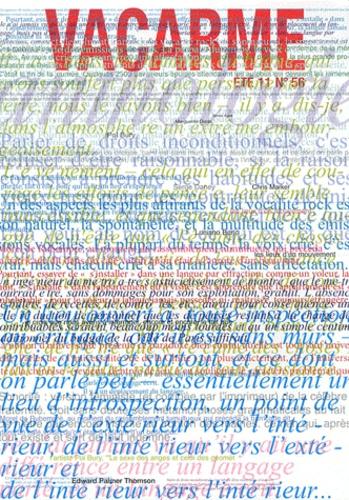 Philippe Mangeot - Vacarme N° 56, Eté 2011 : .