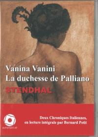 Stendhal - Vanina Vanini - La duchesse de Palliano. 1 CD audio MP3