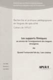 Mireille Hardy - Les Cahiers de l'APLIUT Volume 31 N° 2, Juin : Les supports filmiques au service de l'enseignement des langues étrangères ou Quand l?université fait du / son cinéma.