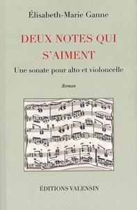Elisabeth-Marie Ganne - Deux notes qui s'aiment - Une sonate pour alto et violoncelle.