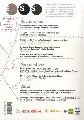 Education, Santé, Sociétés Volume 5 N° 1 Prévention des addictions : regards pluriels