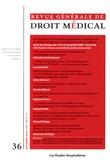 Les Etudes Hospitalières - Revue Générale de Droit Médical N° 36, Septembre 201 : Les mutations du droit de la responsabilité suscitées par la procédure de règlement amiable des accidents médicaux.