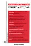 Les Etudes Hospitalières - Revue Générale de Droit Médical N° 41, Décembre 2011 : .