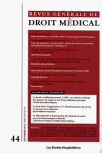 Camille Bourdaire-Mignot - Revue Générale de Droit Médical N° 44, Septembre 201 : Dossier spécial télémédecine.