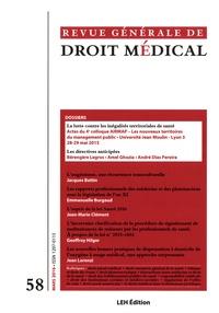 Guillaume Rousset et Marion Girer - Revue Générale de Droit Médical N° 58, mars 2016 : La lutte contre les inégalités territoriales de santé ; Les directives anticipées.