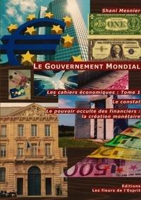 Shani Mesnier - Les cahiers économiques - Tome 1, Le gouvernement mondial : Le constat ; Le pouvoir occulte des financiers ; La création monétaire.