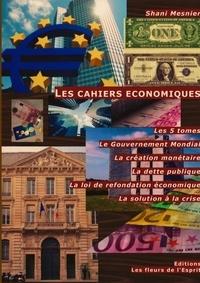 Shani Mesnier - Les cahiers économiques - Les 5 tomes ; Le Gouvernement Mondial ; La création Monétaire ; La dette publique ; La loi de refondation économique ; La solution à la crise.