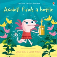Galabria.be Axolotl finds a bottle Image