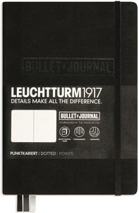 LEUCHTTURM - Carnet Leuchtturm1917 Bullet Journal rigide 13 x 21 cm 240p pointillé Noir