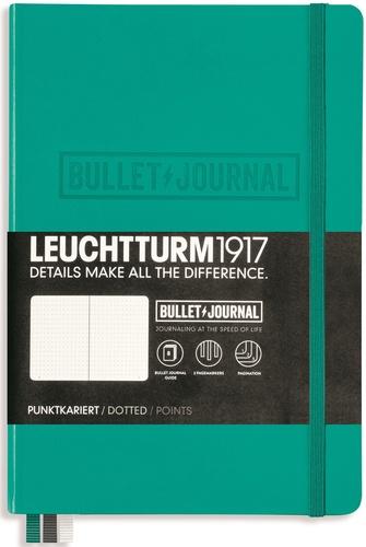 LEUCHTTURM1917 - Carnet Leuchtturm1917 Bullet Journal rigide 13 x 21 cm 240p pointillé Émeraude