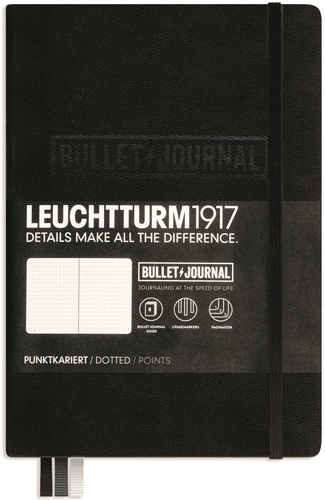 LEUCHTTURM1917 - Carnet Leuchtturm1917 Bullet Journal rigide 13 x 21 cm 240p pointillé Noir