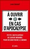 Lewis Dartnell - À ouvrir en cas d'apocalypse.