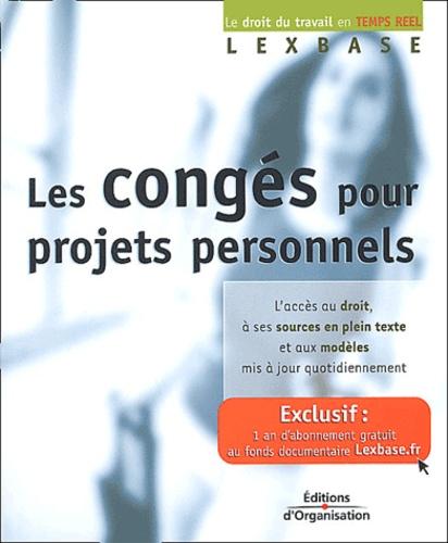 Lexbase - Les congés pour projets personnels.