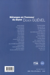 LGDJ - Mélanges en l'honneur de Didier Guevel - Une approche renouvelée des humanités.