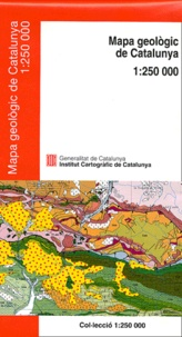 Institut carto Catalogne - Carte géologique de Catalogne : Mapa geologic de Catalunya - 1 : 250 000.
