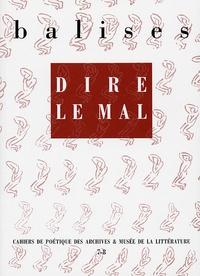 Daniel Mayer et Beïda Chikhi - Balises N° 7-8 : Dire le mal.