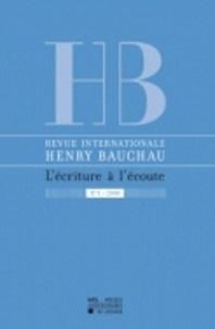 Myriam Watthée-Delmotte - Revue internationale Henry Bauchau N° 1/2008 : .