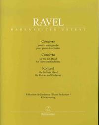 Maurice Ravel - Concerto pour la main gauche pour piano et orchestre - Réduction de l'orchestre.