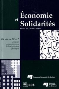 Nathalie Burlone - Economie et Solidarités N° 38-2, 2007 : Où s'en va l'Etat ? Lectures  contemporaines de la régulation politique.