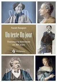 Sarah Sauquet - Un Texte Un jour - Traverser la littérature en 365 jours.