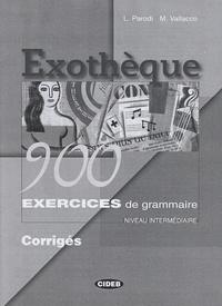 Deedr.fr Exothèque - 900 exercices de grammaire, Niveau intermédiaire, Corrigés Image